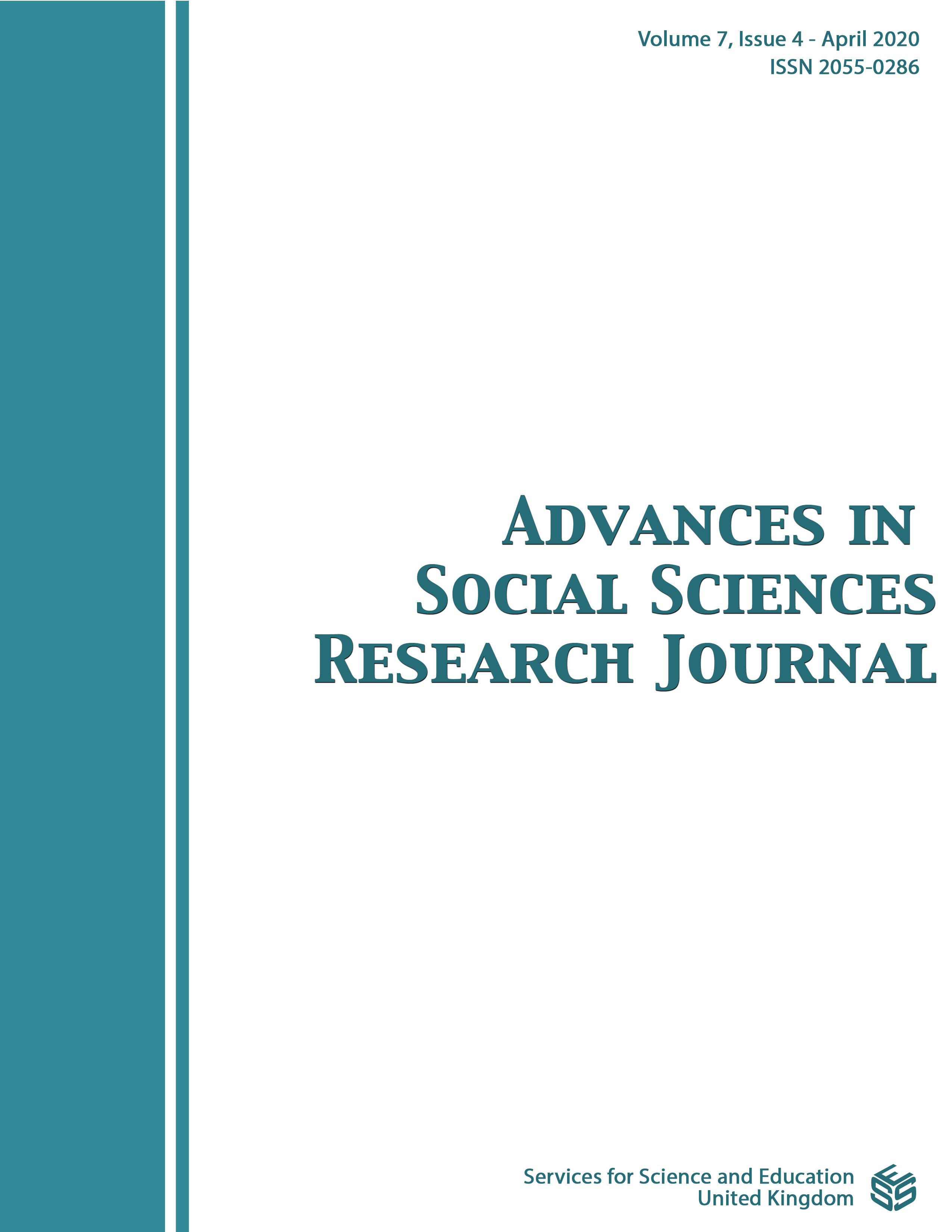 View Vol. 7 No. 4 (2020): Advances in Social Sciences Research Journal