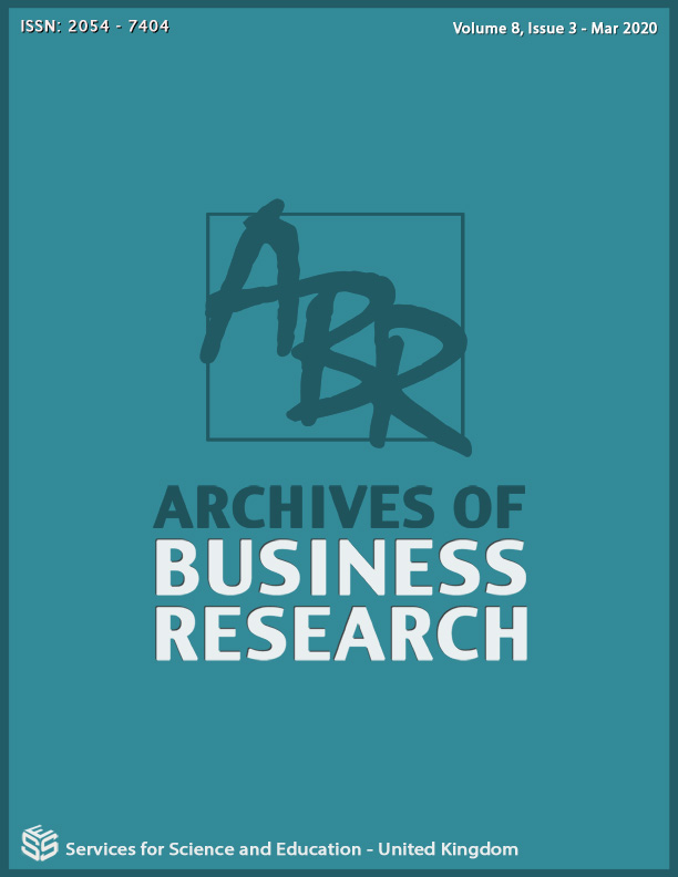 View Vol. 8 No. 3 (2020): Archives of Business Research